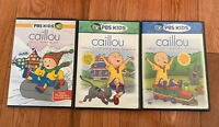 PBS Kids CAILLOU 3 dvd lot WORLD OF WONDER and HOLIDAYS and BIG BROTHER