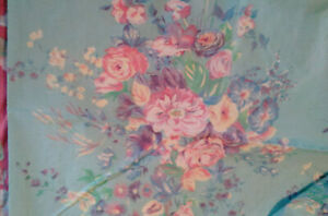 RALPH LAUREN VINTAGE POMPANO FLORAL TWIN FITTED SHEET NOS OR FABRIC COTTON