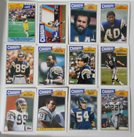 1987 Topps San Diego Chargers Team Set of 12 Football Cards