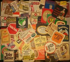 60 Vintage Beer Mats Collection Job Lot