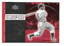 JOE DIMAGGIO   2002 PIECE OF HISTORY HITTING FOR THE CYCLE H12  NEW YORK YANKEES