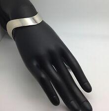 Burkhardt For Birks Sterling Silver Modernist Bracelet Bangle Zig Zag Wavy