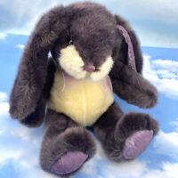 "Dan Dee Collectors Choice Bunny Rabbit Plush Purple 16"" w 9"" Floopy Ears"