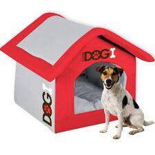 QUALITY HOUSE SHAPED DOG BED Pet/Cat Folding Home Mat DETACHABLE ROOF + MATTRESS