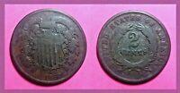 1869 Two Cent Piece (Good Details)