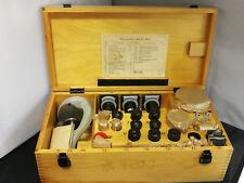 Набор для микроскопа MMU-3, окуляры, ЛОМО линзы. СССР