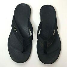 Crocs Men's Black Flip Flops Sandals Thongs Summer Shoes Size 10
