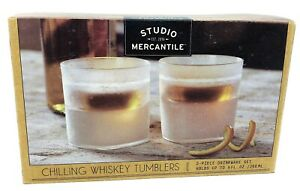 Chilling Whiskey Tumblers 2 Piece 9 oz. Chilling Drinkware - New!