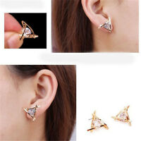2018 Fashion Elegant Women Lady Triangle Crystal Rhinestone Ear Stud Earrings