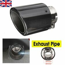 Universal 66mm-101mm Carbon Fiber Car Exhaust Pipe Tail Muffler End Tip UK