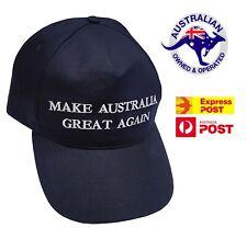 Make Australia Great Again Hat MAGA Cap Navy Blue 2020 Aussie America AUS Trump