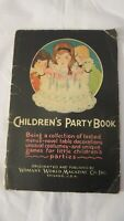 Vintage 1928 Children's Party Book Halloween Pirate Woman's World Magazine Co.