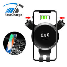 360° Qi Wireless Car Air Vent Fast Charger Mount Holder Stand Cradle for Phone
