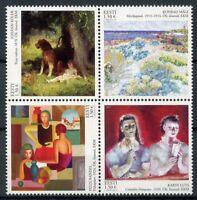 Estonia 2018 MNH Classics of Estonian Paintings Felix Randel 4v Block Art Stamps