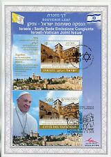 Israel 2015 Cto Jis Vatican Church Holy Sepulchre 2x 1v S/S Souvenir Leaf Stamps