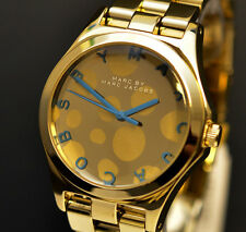 Marc Jacobs MBM3267 Henry Blue Dot Rose Gold Ladies Designer Watch