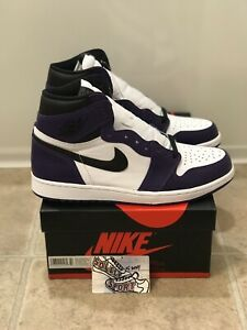 New DS Nike Air Jordan 1 Retro High OG Court Purple 2.0 555088-500 Mens Size