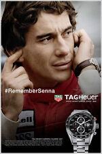 Ayrton Senna Poster Formula One TAG Heuer Watch F1 Art Print Poster