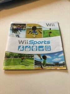 Manual Only for Nintendo Wii Sports, Instruction Booklet  *No Game Or Case**
