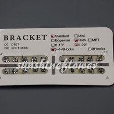 20 Pcs/Set Dental Orthodontic Metal Bracket Standard Roth 022 Slot 3 4 5 Hooks