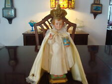 """Vintage~Signed& #~A. PROSPERL~13"""" Infant of Prague~Chalkware and Hand Painted"""