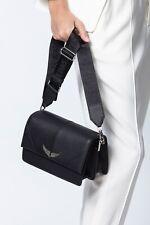 Zadig & Voltaire Black Leather Lolita Slightly Crossbody Bag