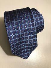 New Robert Talbott Men's Woven Textured Geometric Silk Tie Blue Pink