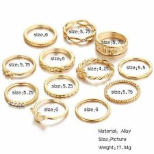 12pcs Midi Finger Ring Sets Vintage Punk Knuckle Party Rings Jewelry Xmas Gifts