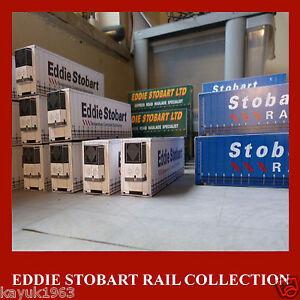 Stobart Rail Freight Shipping Model Card Kits Stobart Rail 40ft/45ft HO 1:87