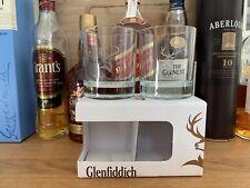 More details for 2 glenfiddich whisky whiskey glasses heavy broad base tumbler gift boxed