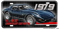 1979 Chevrolet Corvette L-82 Black Aluminum License Plate