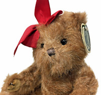 Taryn Teddy Bear Plush Bearington Collection Limited Series Red Bow Jointed Toy