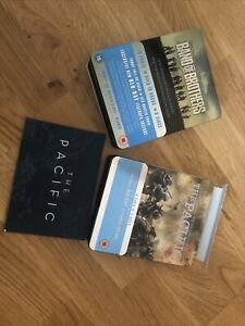 BAND OF BROTHERS & THE PACIFIC BLU RAY BOX SETS (METAL TIN EDITIONS) Pre Owned