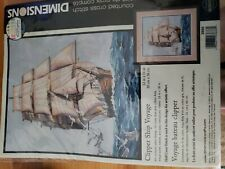 Dimensions Counted Cross Stich Clipper Ship Voyage 03886