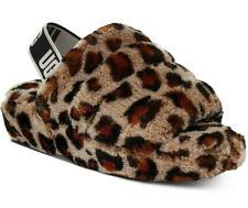 UGG Womens Fluff Yeah Slide Leopard Amphora Size 8