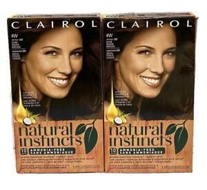 Clairol Natural Instincts#4W Former 28B Roasted Chestnut Dark Warm Brown 2 Pack