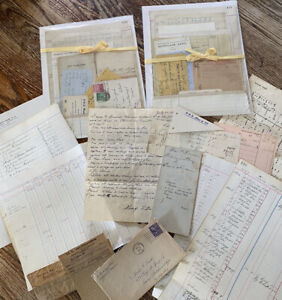 Vintage ,12 Pc Handwritten Ephemera, Collage,Books,Crafting