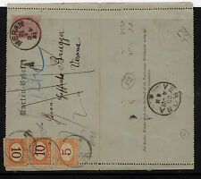 Austria postal letter card to Italy postage due J5, J6(2)    EX1106