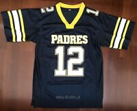 Tom Brady #12 High School Men's Football Jersey Navy Blue