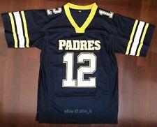 Tom Brady #12 High School Men's Football Jersey Navy Blue