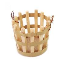 Mini Meuble Panier en Bois Accessoires pour 1/12 Maison de Poupée Miniature