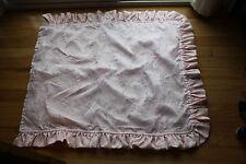 Pink Duvet & Bed Skirt Blanket Brocade Floral Embroidered Bed Decor Set