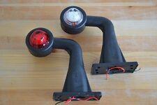 2x LED Lichtleittechnik Begrenzungsleuchten rot-weiß  12V 0123