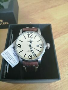 TW Steel Brown Leather Strap Mens Watch MS22