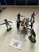 BRITAINS SWOPPET AND TIMPO AWI FIGURES +CANNON VGC