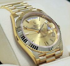 Rolex President 40mm Day-Date 228238 18K Yellow Gold Champagne Roman Dial *NEW*