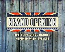 NEW GRAND OPENING VINYL BANNER 3' X 8' HEMMED WITH EYELETS BUSINESS STOREFRONT