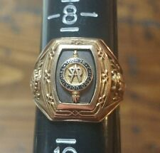 RARE 1944 Chicago Vocational School Gold Class Ring Sz 9 8.47 Grams - Excellent