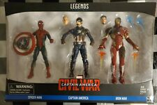 New listing Marvel Legends Civil War Spiderman/Captain America/Ironman 3-Pack Avengers New