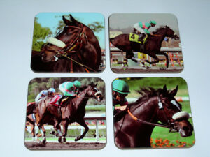 Zenyatta Horse Racing Legend COASTER Set
